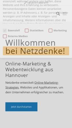 Vorschau der mobilen Webseite www.netzdenke.de, Netzdenke