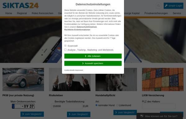 Vorschau von www.siktas24.de, Versicherungsmakler Siktas24
