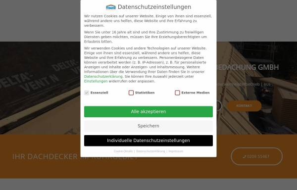 Vorschau von freund-bedachung.de, Werner Freund GmbH Dachdeckermeisterbetrieb