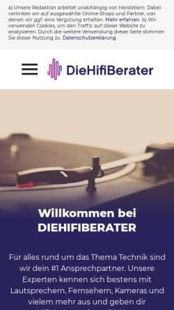 Vorschau der mobilen Webseite www.diehifiberater.de, Diehifiberater.de