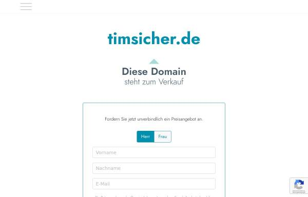 Vorschau von www.timsicher.de, Tim Sicher