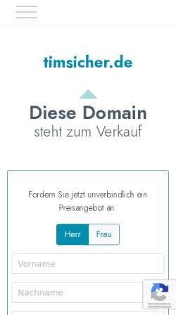 Vorschau der mobilen Webseite www.timsicher.de, Tim Sicher