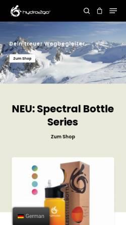 Vorschau der mobilen Webseite www.hydro2go.de, hydro2go®