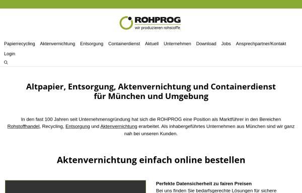 Vorschau von www.rohprog.de, ROHPROG GmbH