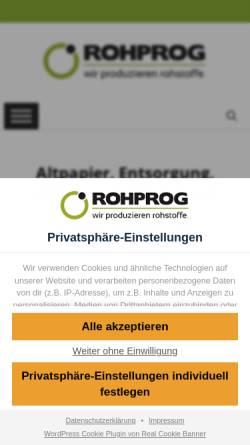 Vorschau der mobilen Webseite www.rohprog.de, ROHPROG GmbH