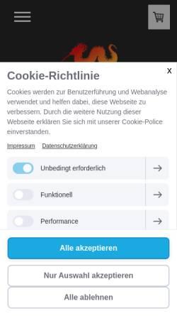 Vorschau der mobilen Webseite www.teefachgeschaeft-bruchkoebel.de, Tee Fachgeschäft Bruchköbel