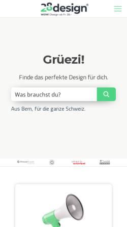Vorschau der mobilen Webseite 28design.ch, 28 Design GmbH