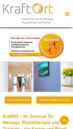 Vorschau der mobilen Webseite www.kraftort-therapiezentrum.de, Kraftort - Therapiezentrum