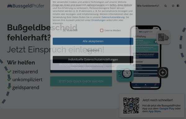 Vorschau von xn--bussgeldprfer-5ob.com, Bussgeldprüfer.com (GDB L-Tech)