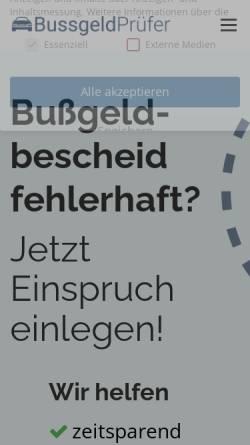 Vorschau der mobilen Webseite xn--bussgeldprfer-5ob.com, Bussgeldprüfer.com (GDB L-Tech)