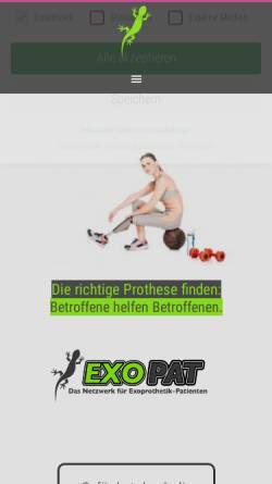 Vorschau der mobilen Webseite exopat.de, Exopat