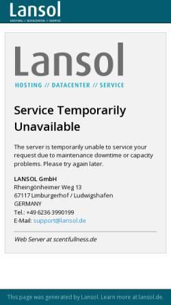 Vorschau der mobilen Webseite www.scentfullness.de, Scentfullness