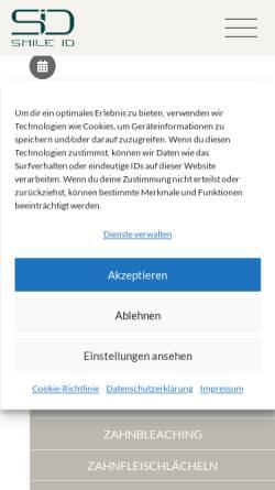 Vorschau der mobilen Webseite smile-id.de, MVZ Smile ID