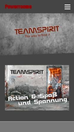 Vorschau der mobilen Webseite www.powerrooms.de, Powerrooms UG