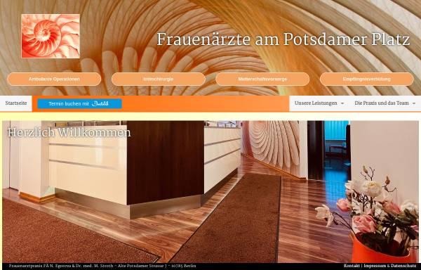 Vorschau von www.frauenaerzte-am-potsdamer-platz.de, Frauenärzte am Potsdamer Platz Natalia Egorova, Dr. M. Stroth