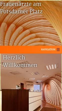 Vorschau der mobilen Webseite www.frauenaerzte-am-potsdamer-platz.de, Frauenärzte am Potsdamer Platz Natalia Egorova, Dr. M. Stroth