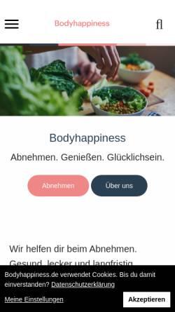 Vorschau der mobilen Webseite www.bodyhappiness.de, Bodyhappiness