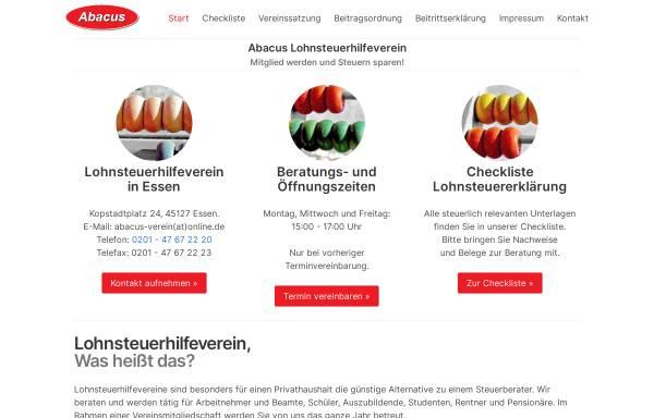 Vorschau von lohnsteuerhilfe-essen.de, Abacus Lohnsteuerhilfeverein e. V.
