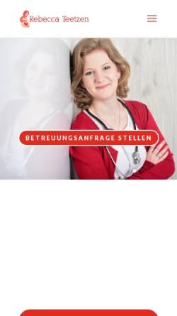 Vorschau der mobilen Webseite hebamme-teetzen.de, Hebamme Rebecca Teetzen