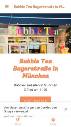 Vorschau der mobilen Webseite bubble-tea-bayer.business.site, Bubble Tea