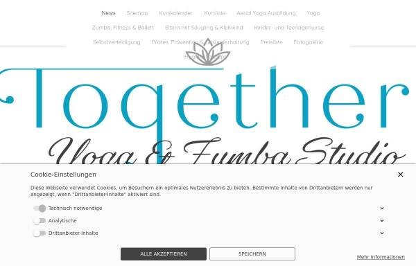 Vorschau von www.together-yoga-zumba.com, Together Yoga & Zumba Studio