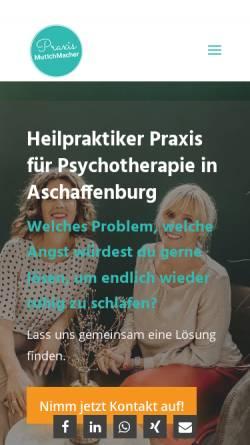 Vorschau der mobilen Webseite www.mut-ich-macher.de, Heilpraktikerpraxis Mutichmacher