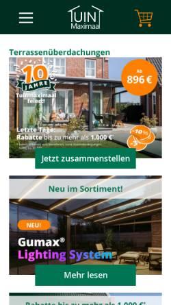 Vorschau der mobilen Webseite www.tuinmaximaal.de, Tuinmaximaal