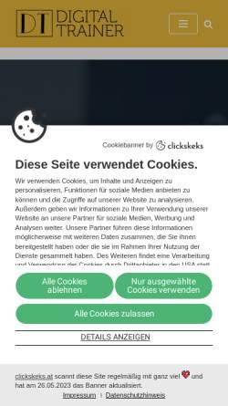 Vorschau der mobilen Webseite digital-trainer.org, Digital Trainer Andreas Lieb