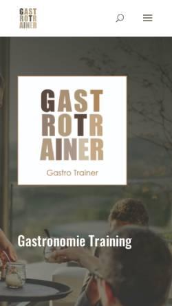 Vorschau der mobilen Webseite gastro-trainer.de, Gruber & Iannello GbR