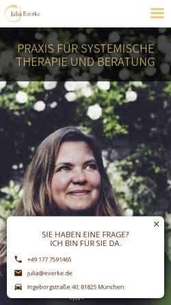 Vorschau der mobilen Webseite www.juliaeverke.de, Julia Everke