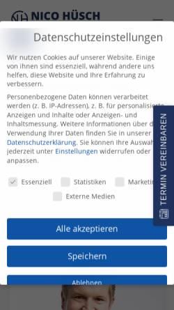 Vorschau der mobilen Webseite nicohuesch.de, Nico Hüsch GmbH
