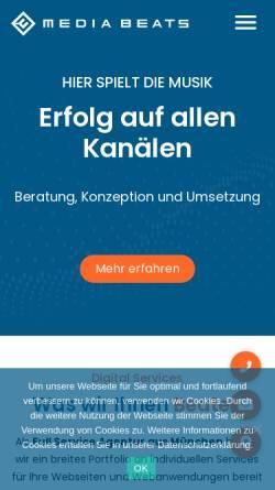 Vorschau der mobilen Webseite media-beats.com, Media Beats GmbH