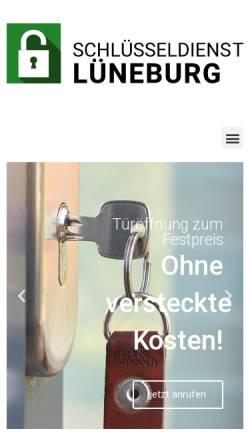 Vorschau der mobilen Webseite www.schluesseldienst-lueneburg.de, Schlüsseldienst Lüneburg