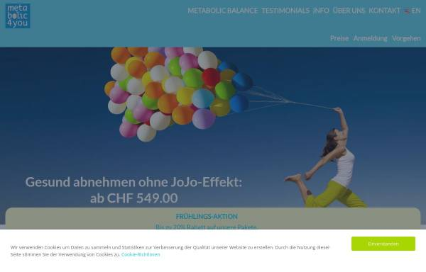 Vorschau von www.metabolic4you.ch, metabolic4you