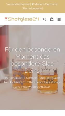 Vorschau der mobilen Webseite shotglass24.com, Konzept Marketing