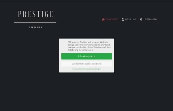 Vorschau von prestige-webdesign.de, Prestige Webdesign