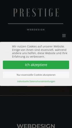 Vorschau der mobilen Webseite prestige-webdesign.de, Prestige Webdesign