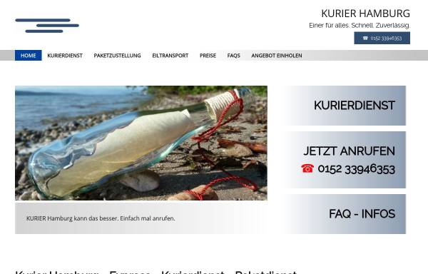 Vorschau von www.kurierhamburg.com, Kurier Hamburg