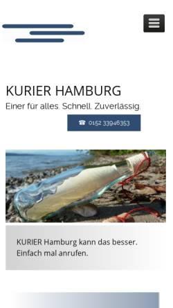 Vorschau der mobilen Webseite www.kurierhamburg.com, Kurier Hamburg