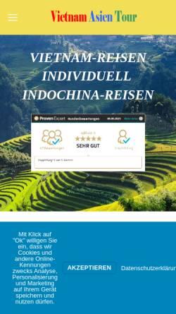 Vorschau der mobilen Webseite vietnam-asien-tour.de, Vietnam Asien Tour