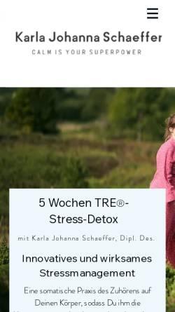 Vorschau der mobilen Webseite www.karlajohannaschaeffer.com, Karla Johanna Schaeffer