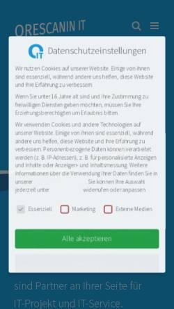 Vorschau der mobilen Webseite orescanin-it.de, ORESCANIN IT