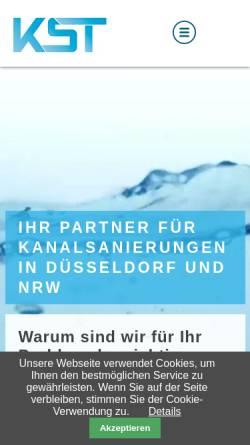 Vorschau der mobilen Webseite www.kanalsanierung-in-duesseldorf.de, Kanal-Sanierungs-Technik Hicker GmbH