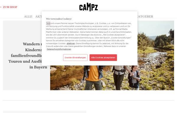 Vorschau von www.campz.de, CAMPZ Outdoor & Adventure