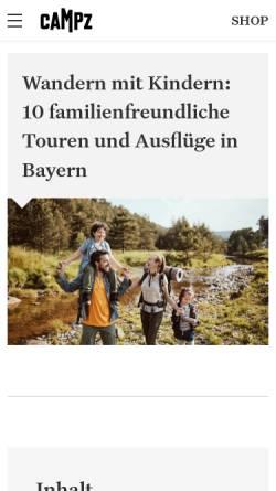 Vorschau der mobilen Webseite www.campz.de, CAMPZ Outdoor & Adventure