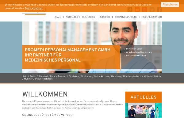 Vorschau von promedi-personal.de, promedi Personalmanagement GmbH