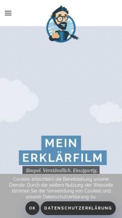 Vorschau der mobilen Webseite www.mein-erklaerfilm.de, mein-erklaerfilm