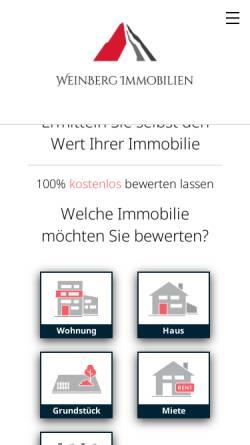 Vorschau der mobilen Webseite www.weinbergimmobilien.de, WeinBerg Immobilien