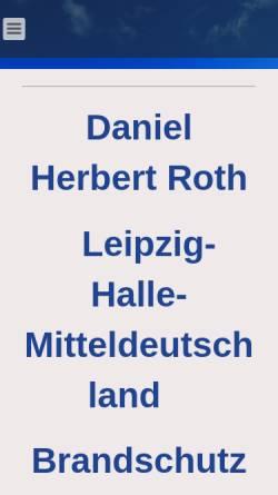 Vorschau der mobilen Webseite www.brandschutzherbert.de, Brandschutz & Facility Service - Daniel H. Roth
