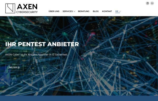 Vorschau von axen-cyber.com, AXEN Cyber Security Services